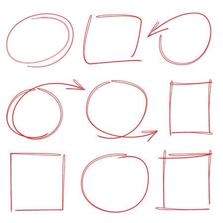 highlighter: hand drawn circle highlighter, marker Illustration