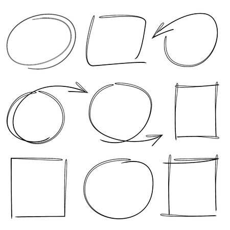 highlighter: circle highlighter arrow brush line