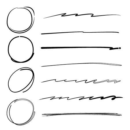 underline: circle and underline set Illustration