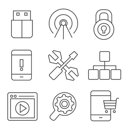 web: web icons