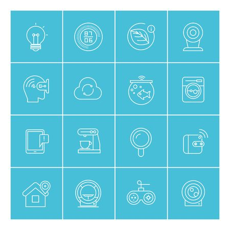 phone button: internet of things icons, smart home icons