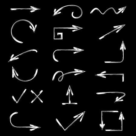 flecha: flechas dibujadas a mano