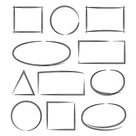 marker: vector de la mano círculo dibujado marcador, rotulador