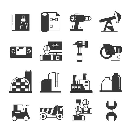 engineering tool: construction icons, engineering icons