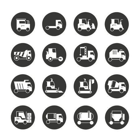 construction equipment: construction equipment icons