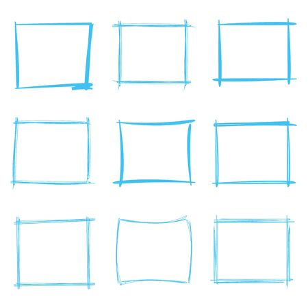 rectangle: hand drawn rectangle frames Illustration