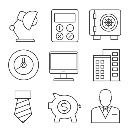 icons: business icons, outline icons