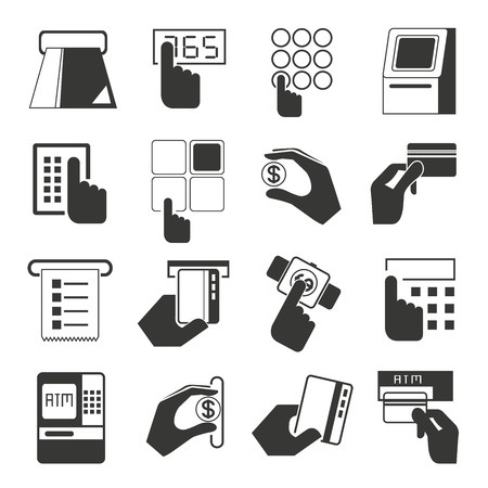 chips: payment icons, cash register, atm icons