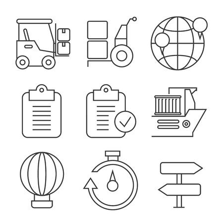 air shipping: shipping icons Illustration