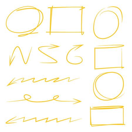 highlighter: highlighter elements arrows circles