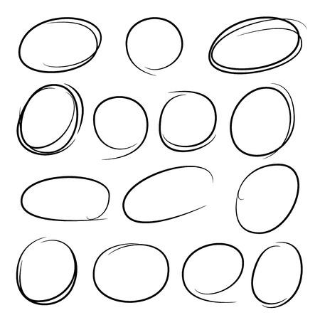 garabatos: círculos dibujados, destacando los elementos Vectores