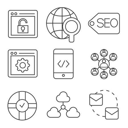 seo: seo icons Illustration