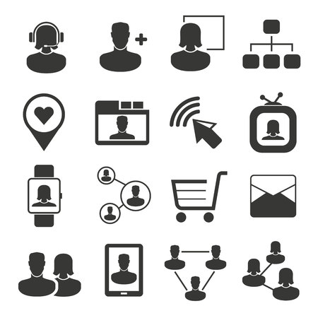 social media icons Vetores