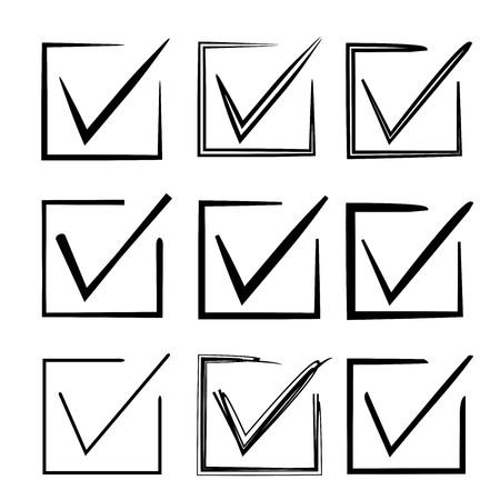 approve: check mark, approve symbol Illustration