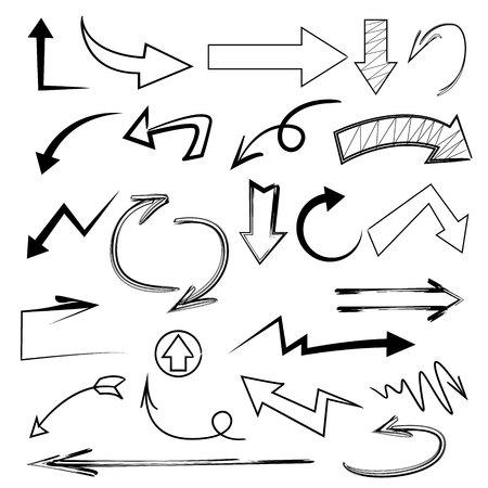 arrow icons: doodle arrow icons Illustration