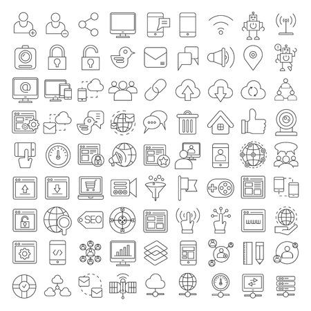 Iconos de redes sociales, los iconos de SEO