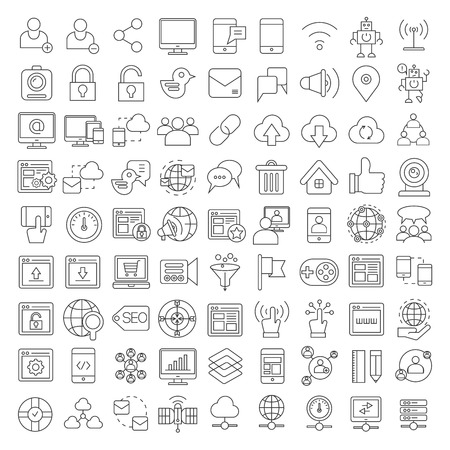 social network icons, seo icons