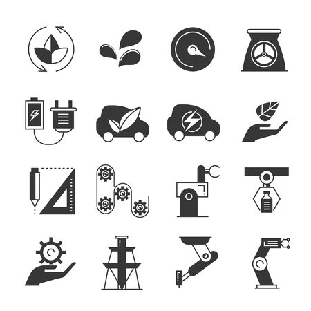 icons: industry icons, energy icons Illustration