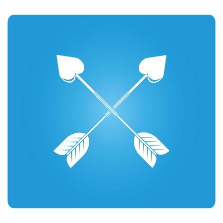 crossed: crossed arrows heart shape Illustration