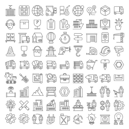 building trade: logistics icons, shipping icons Illustration