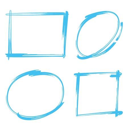 rectangle: rectangle marker, circle marker, frame marker Illustration