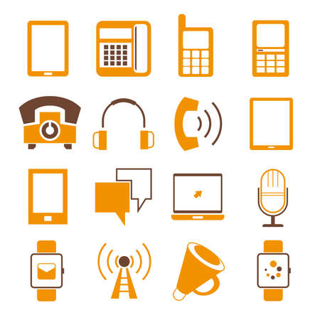 contact information: phone and contact icons