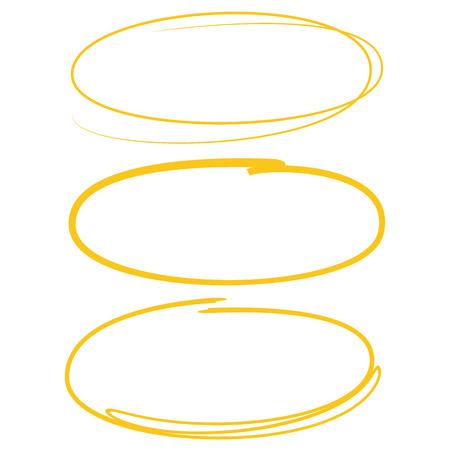 yellow paint: yellow hand drawn circle Illustration