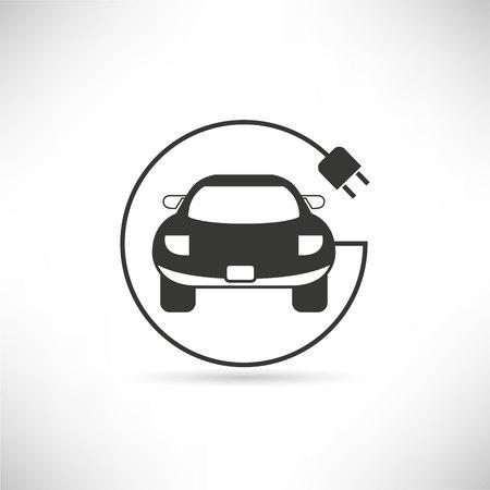 coche eléctrico Ilustración de vector