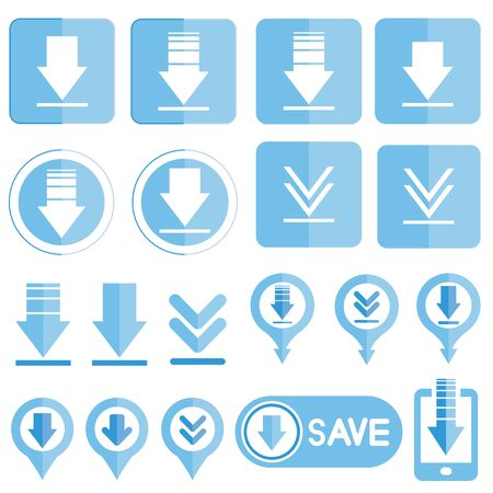 pushbutton: download icons, arrows