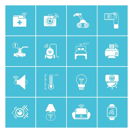 smart home icons, internet of things icons