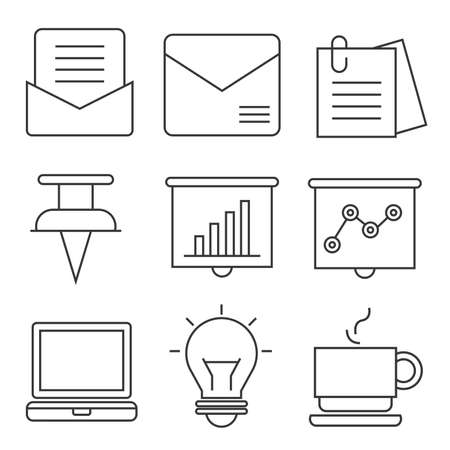 icons: document icons, office icons
