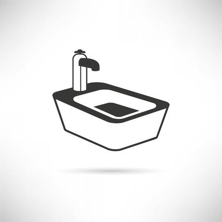 clean bathroom: bath icon