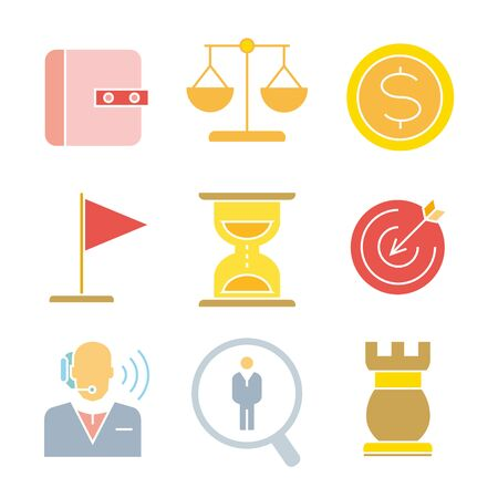 money button: finance icons, business icons