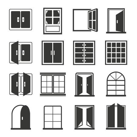 half open: window icons