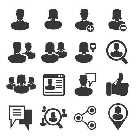 socializando: iconos de redes sociales