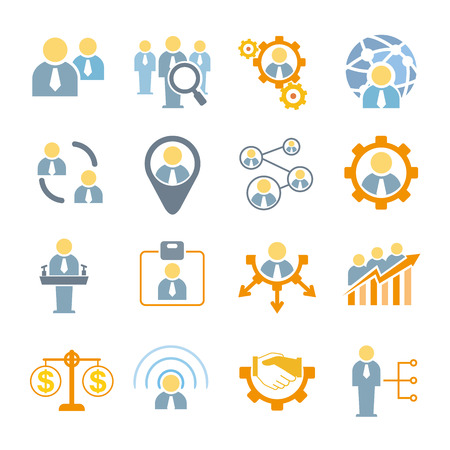 role: management icons, organization management