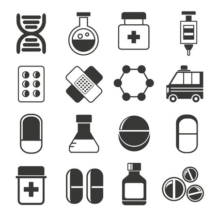 icons: medicine icons, medical icons