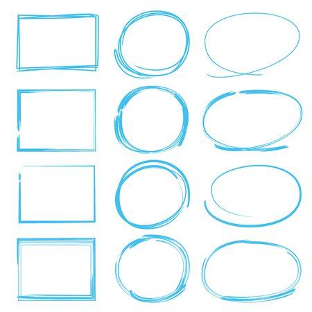 marker drawing set, rectangle marker, circle marker