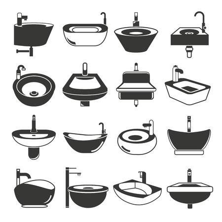basin: sink icons, basin icons