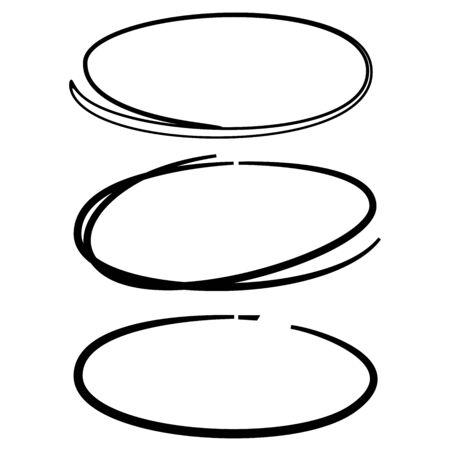 circles: sketched circles Illustration