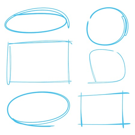blue lines: marker drawing set, rectangle marker, circle marker, frame marker