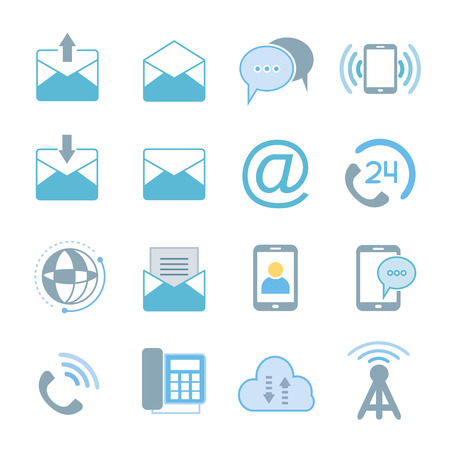 email icons: letter email contact icons