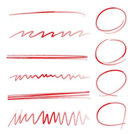 underline: highlighter circle, sketch underline