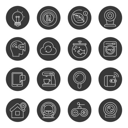 wifi: internet of things icons, smart home icons