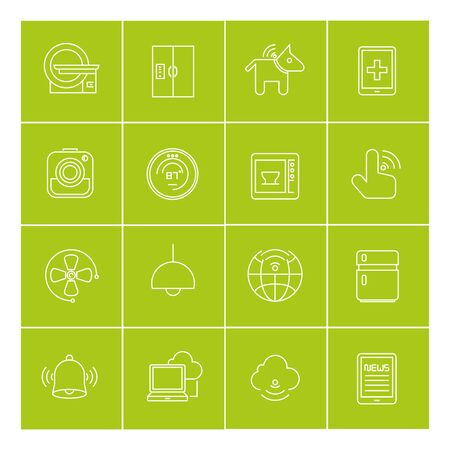 ct scan: internet of things icons