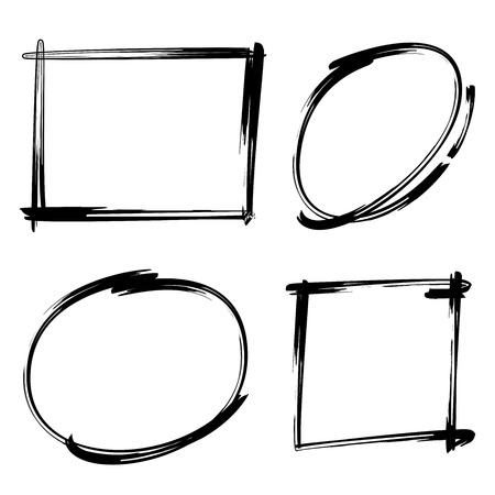 rectangle: hand drawn circle rectangle markers