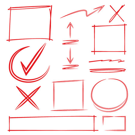 mark pen: check, mark, diagram, highlighter, highlight, drawn, hand, mapping, isolated, rectangle, red, arrow, vector, sign, line, symbol, curve, template, circle, oval, pen, important, process, drawing, paint, mind, dash, tick, doodle, illustration, round, brush,