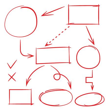 underscore: hand drawn diagram, marker elements