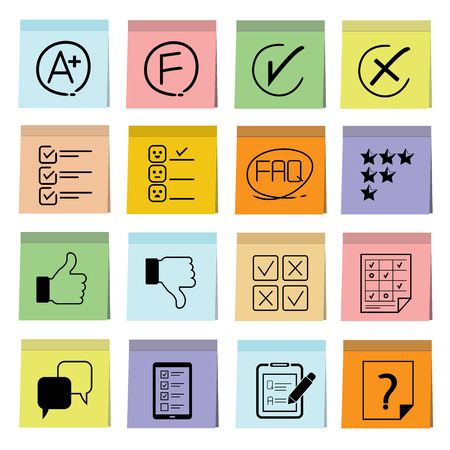 questionnaire: vote and questionnaire icons