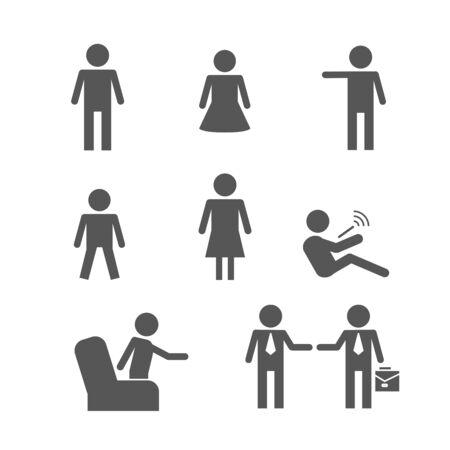 add: people icons Illustration